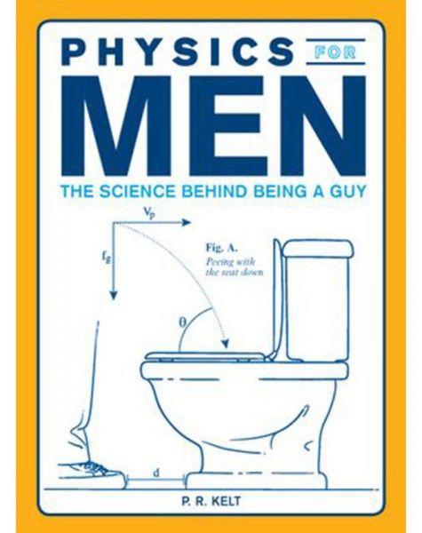 Fizika férfiaknak.  A pasi-lét tudománya A ábra:  Pisilni lehajtott ülőkével